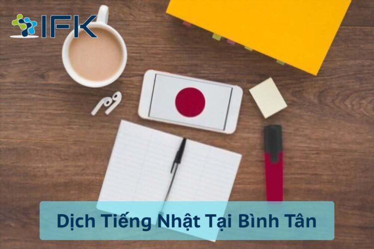 Dịch Thuật Tiếng Nhật tại Bình Tân