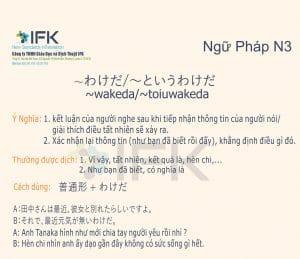 Ngữ pháp N3_wakeda/toiuwakeda