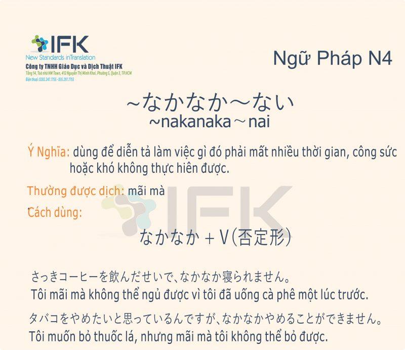 Ngữ pháp N4_nakanaka~nai