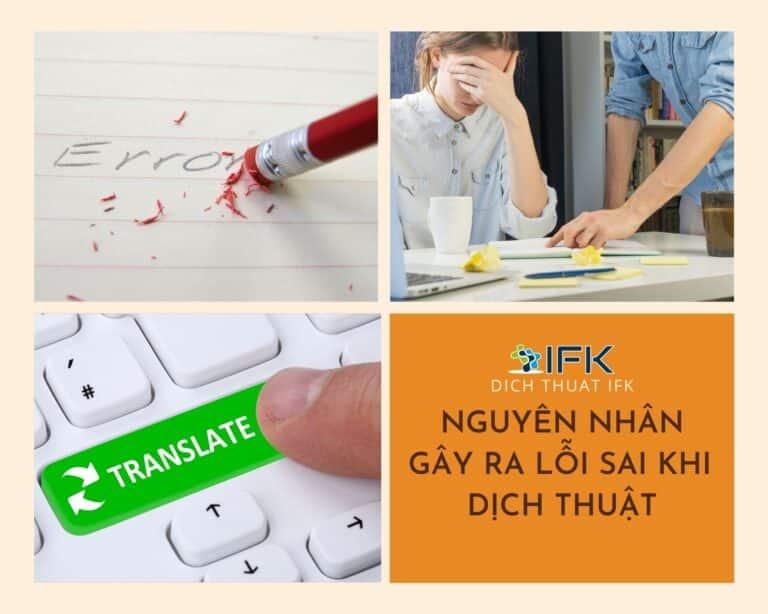 nguyên nhân gây ra lỗi sai khi dịch thuật